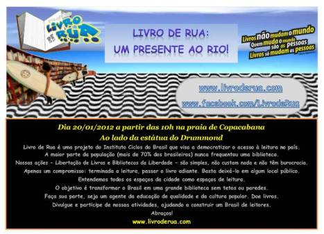 Flyer Virtual Biblioteca na Praia